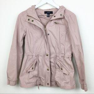Forever 21 Dusty Pink Cargo Utility Jacket